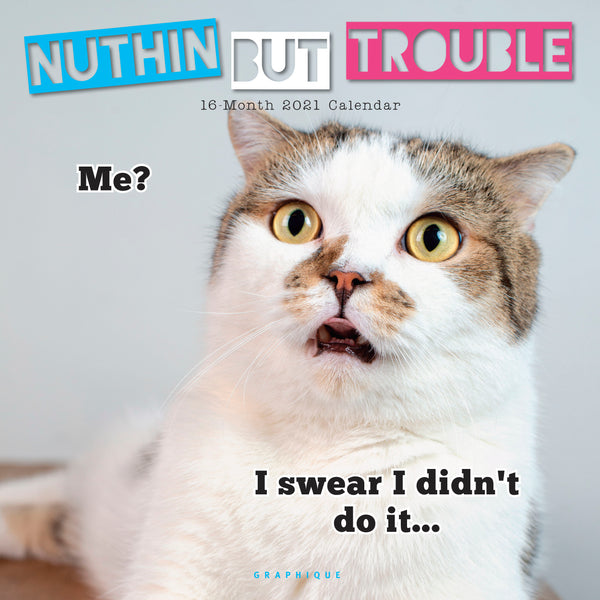 Nuthin' But Trouble Wall Calendar