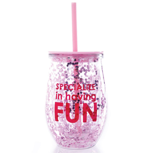 Flamingo Pretty in Pink and Ready to Drink Travel Wine Tumbler Wine w//Straw Funny Saying Gift