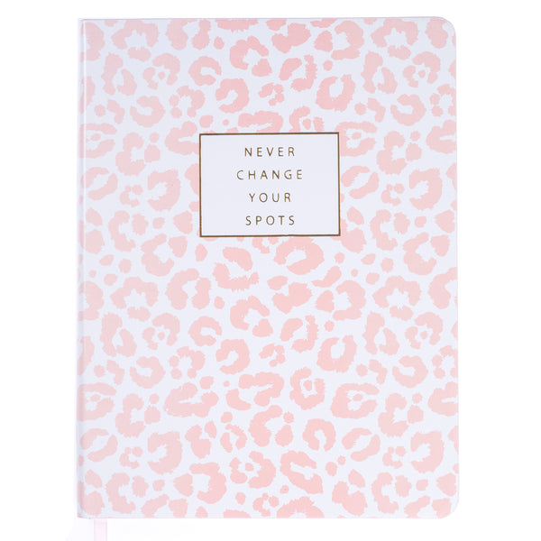 Pink Leopard 6x8 Vegan Leather Journal