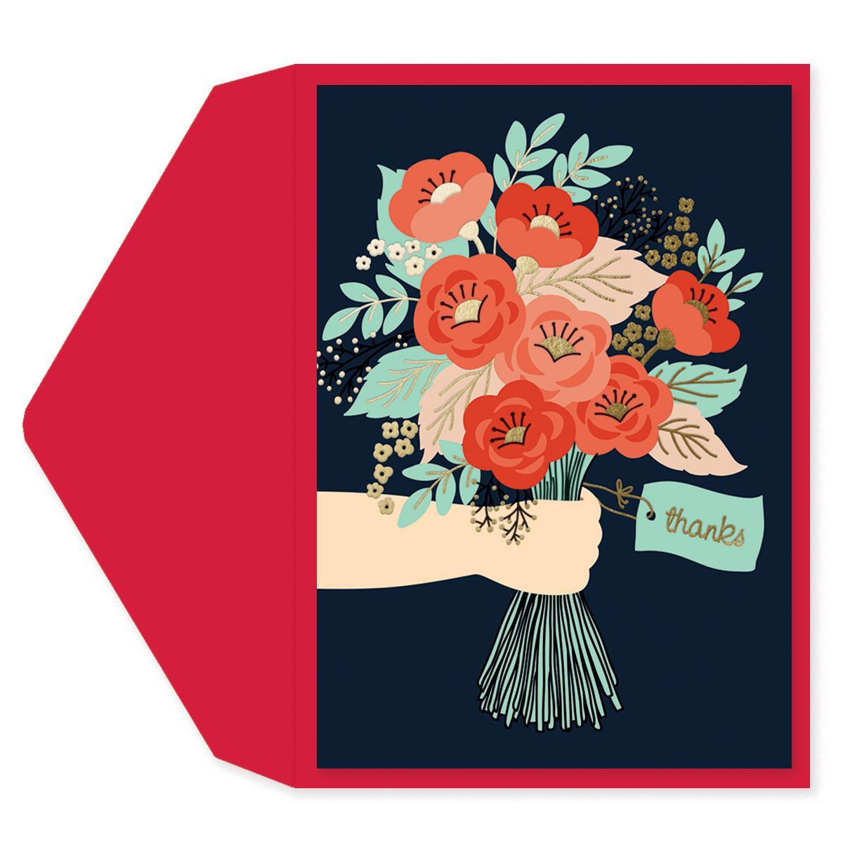A Bouquet for You Thank You Card