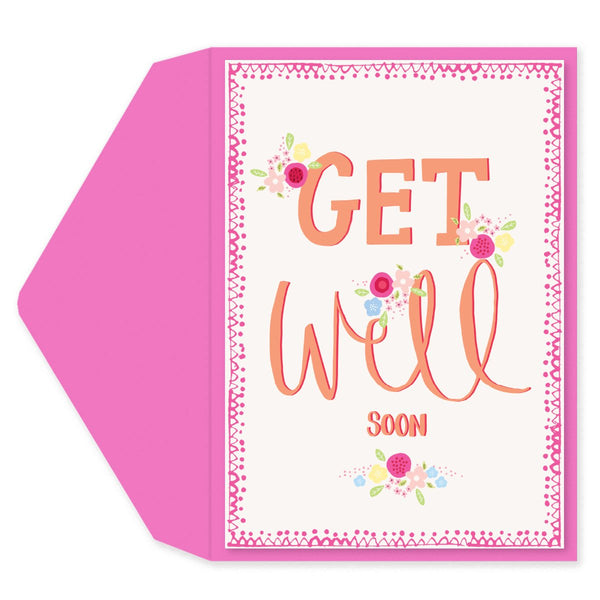 Floral Get Well Get Well Card