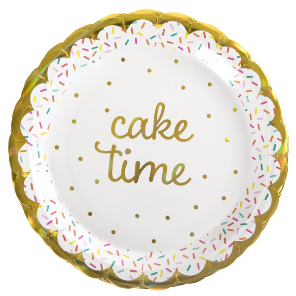 Cake Time 9 inch paper plate