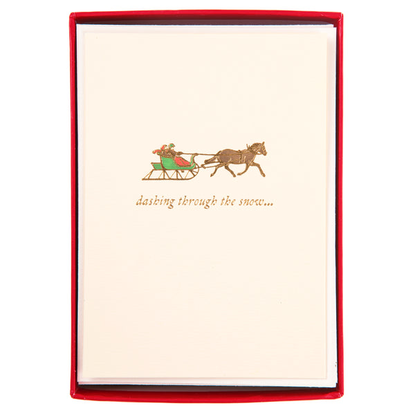 Dashing through the snow Holiday Petite Boxed Cards