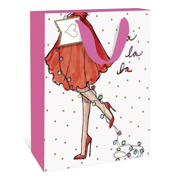 Fa La La Lights Holiday Small Gift Bag