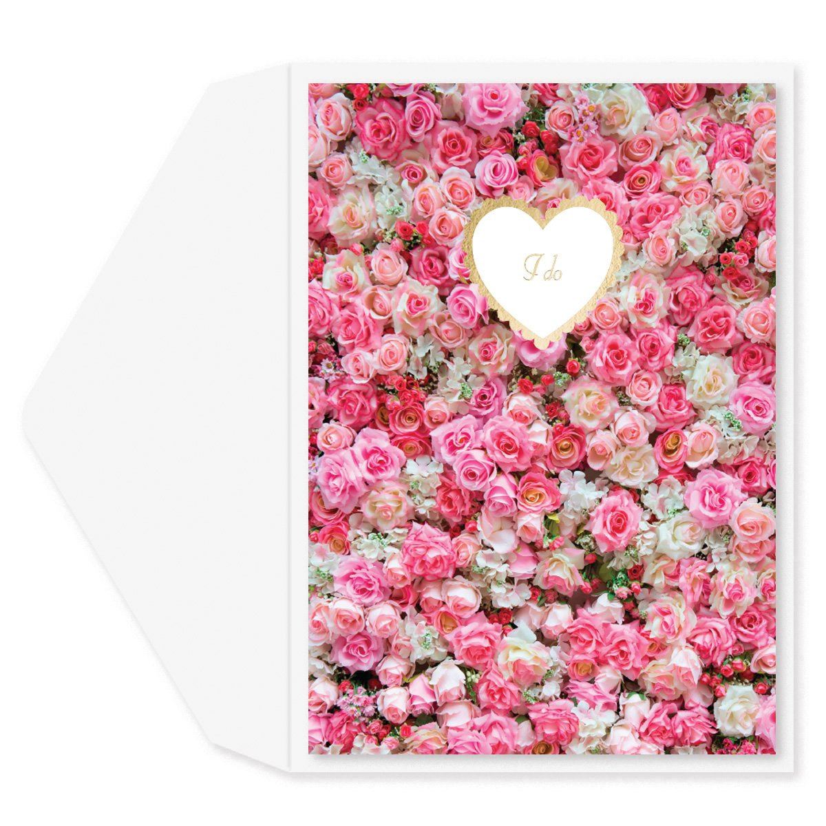 Roses I Do Wedding Card