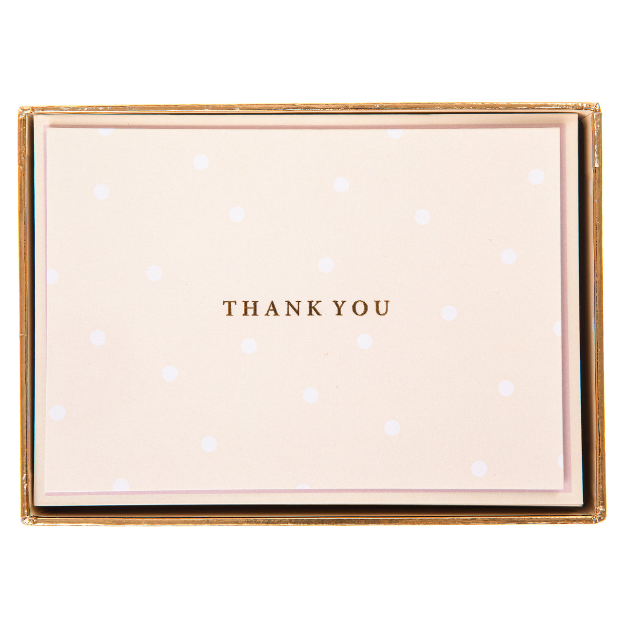 Cream Polka Dot Boxed Cards