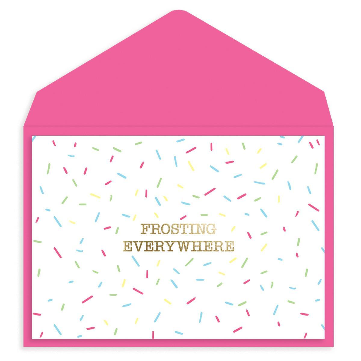 Frosting Everywhere Birthday Card