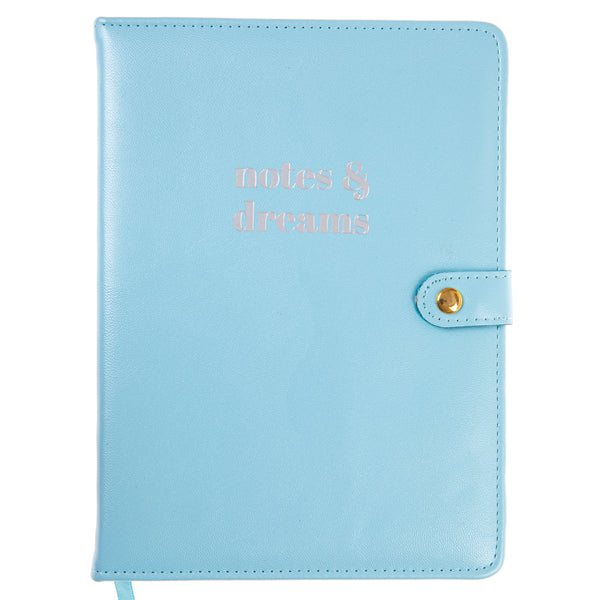 Pearlized Blue 6x8 Snap Journal
