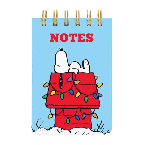 Snoopy Holiday Doghouse Petite Wiro Notepad