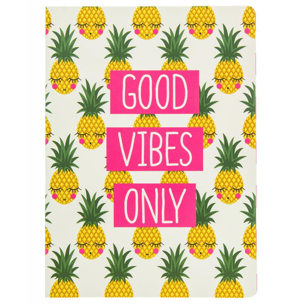 Pineapple Faces Soft Cover Journal