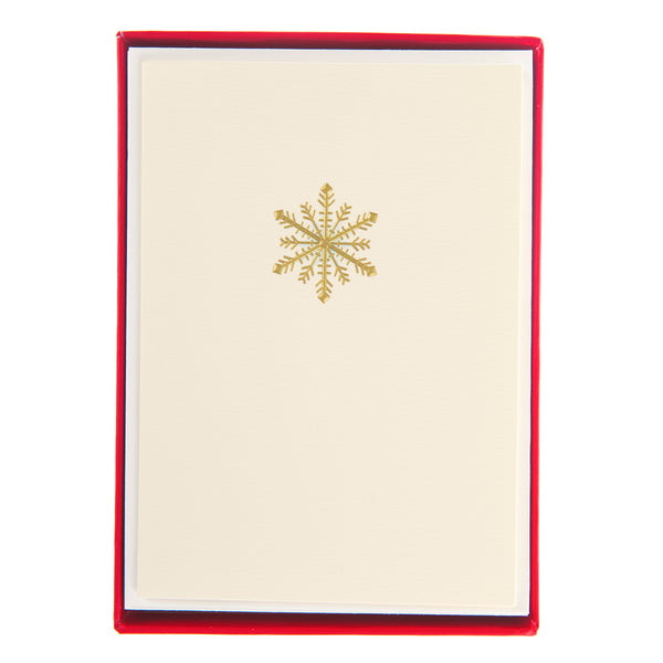 Traditional Snowflake Holiday Petite Boxed Cards