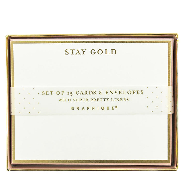 Stay Gold Flat Notes