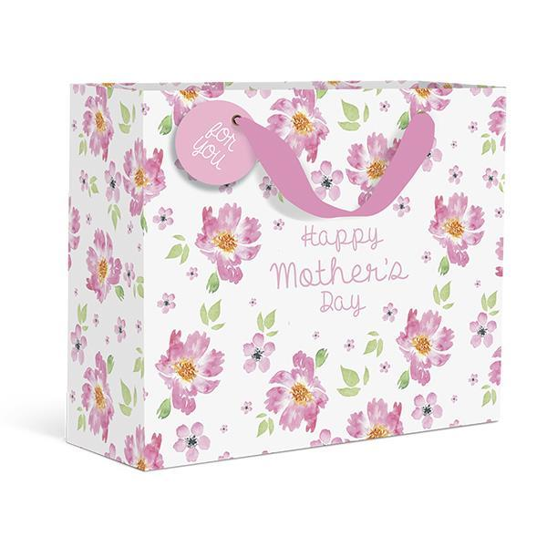 Mother's Day Pink Floral Medium Gift Bag