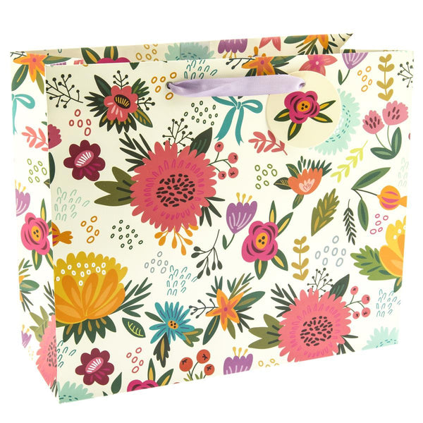 Earthy Floral Large Gift Bag