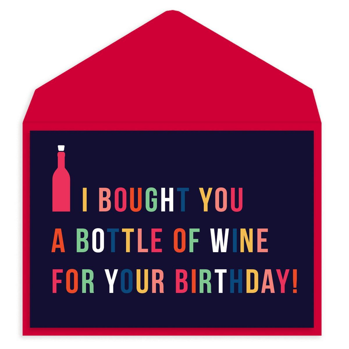 Wine For Your Birthday Birthday Card