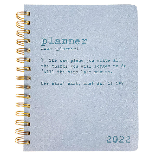 Planner Definition 6 x 8 18-Month Spiral Vegan Leather Planner
