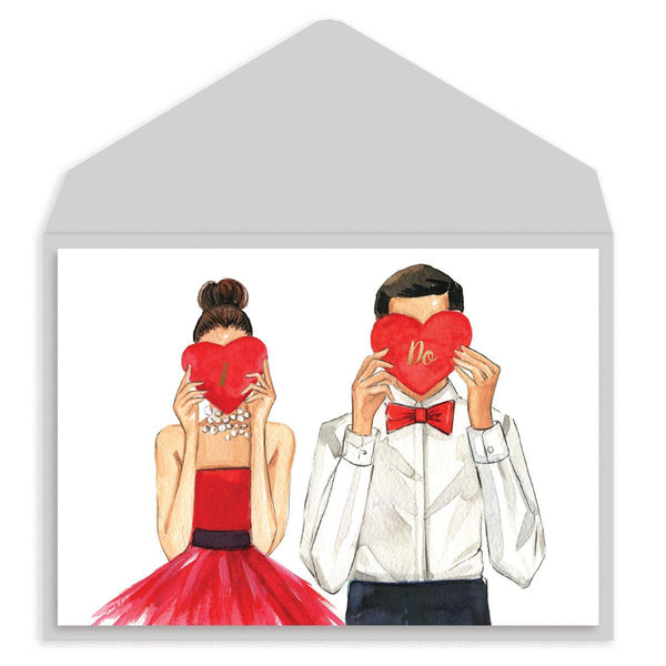 Rong rong I DO Wedding Card