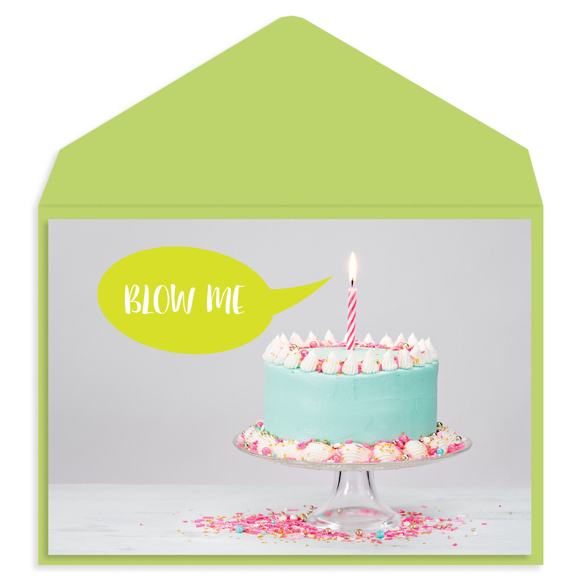 Blow Me birthday Cake Birthday Card