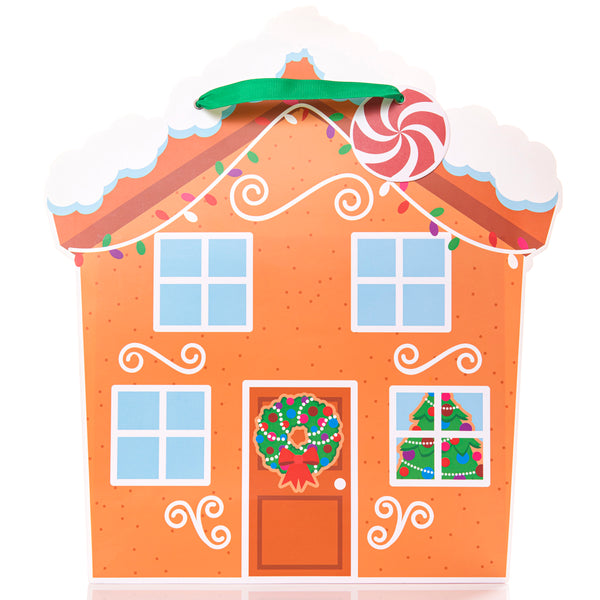 Gingerbread House Large Gift Bag