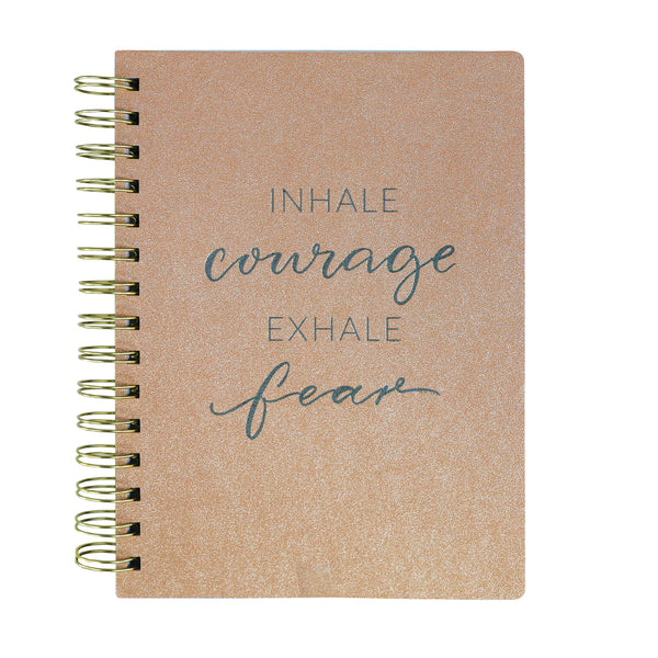 Rose Gold Shimmer 6x8 Spiral Vegan Leather Journal