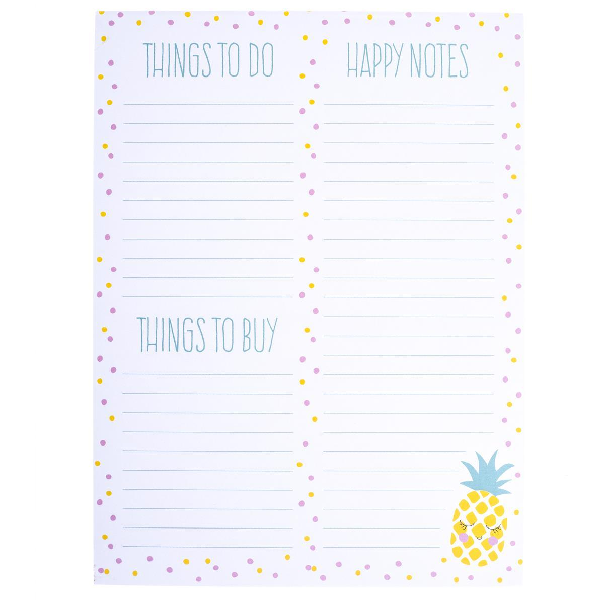 Pineapple Face Large Notepad