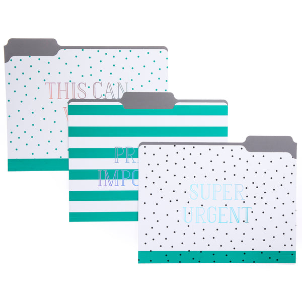 Green Dots File Folder Set
