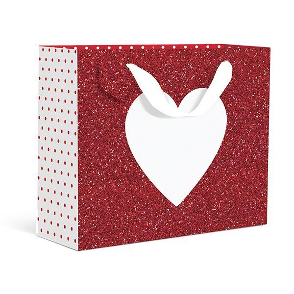 Glitter Heart Small Gift Bag