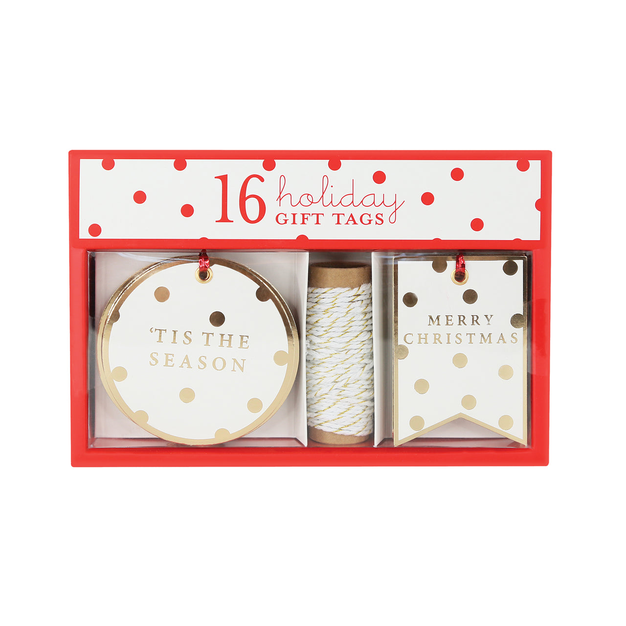 Modern White and Gold Holiday Duo Gift Tags