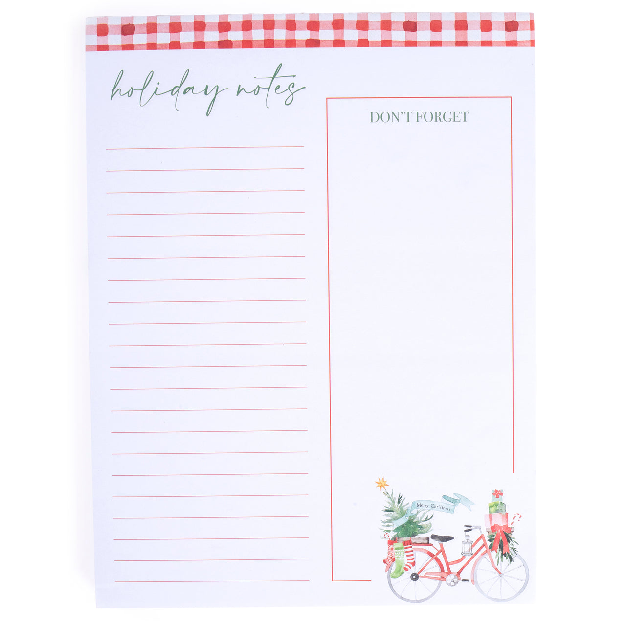 Christmas Bike Large Notepad