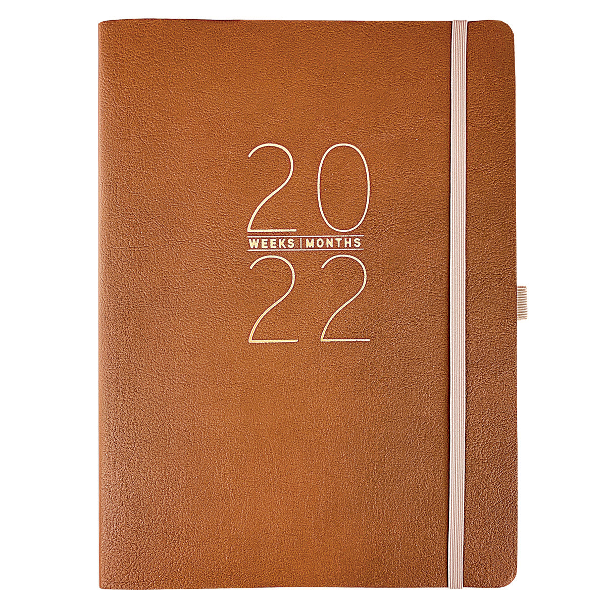 Classic Brown 8x10 18-Month Soft Cover Vegan Leather Planner