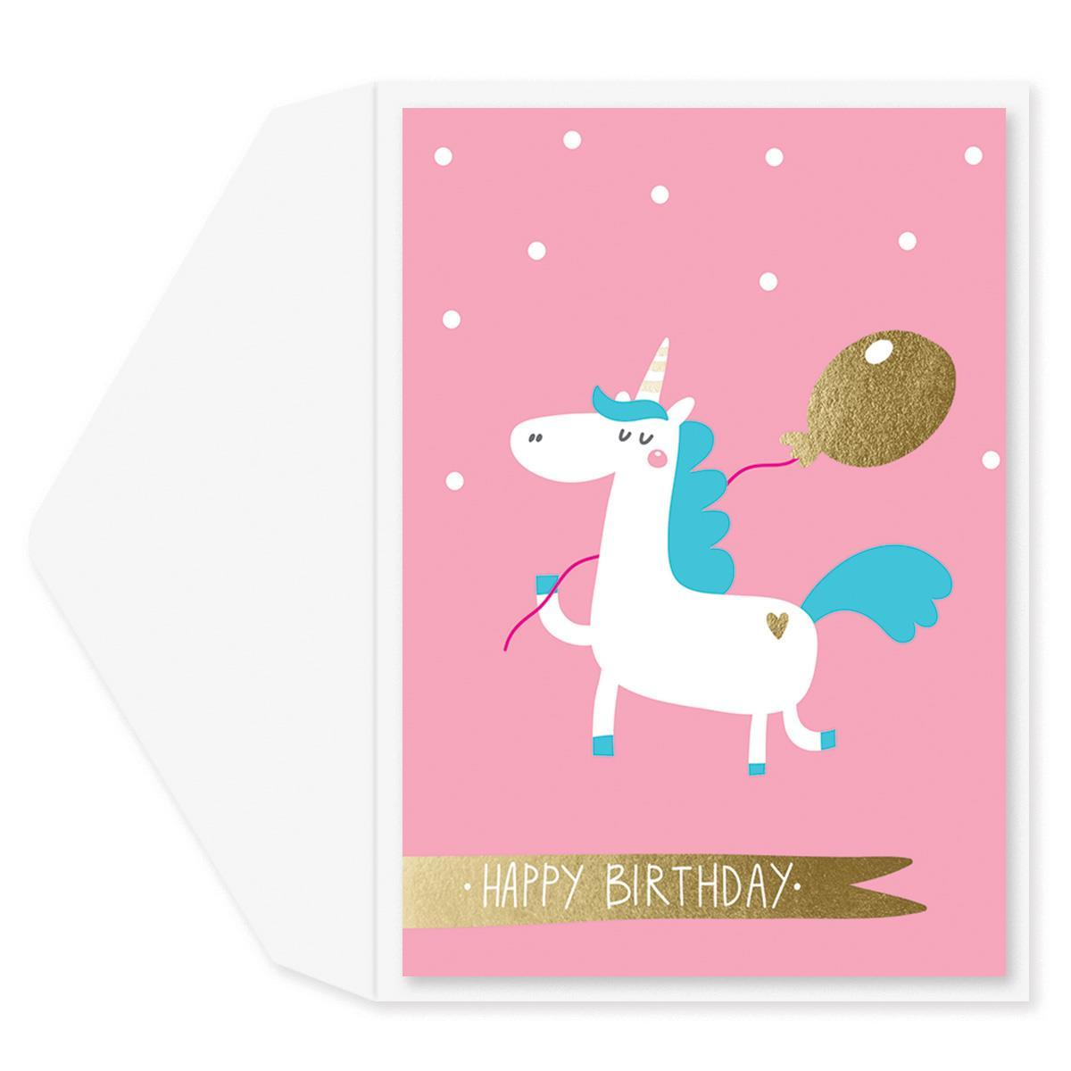Whimsy Unicorn Birthday Card