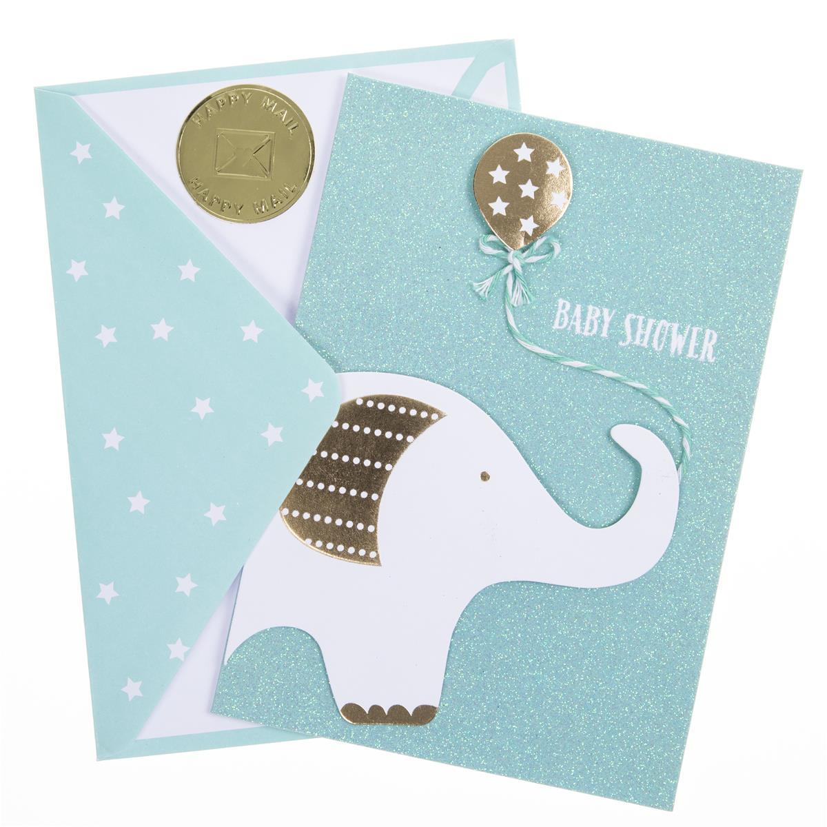 Elephant Shower Handmade Card