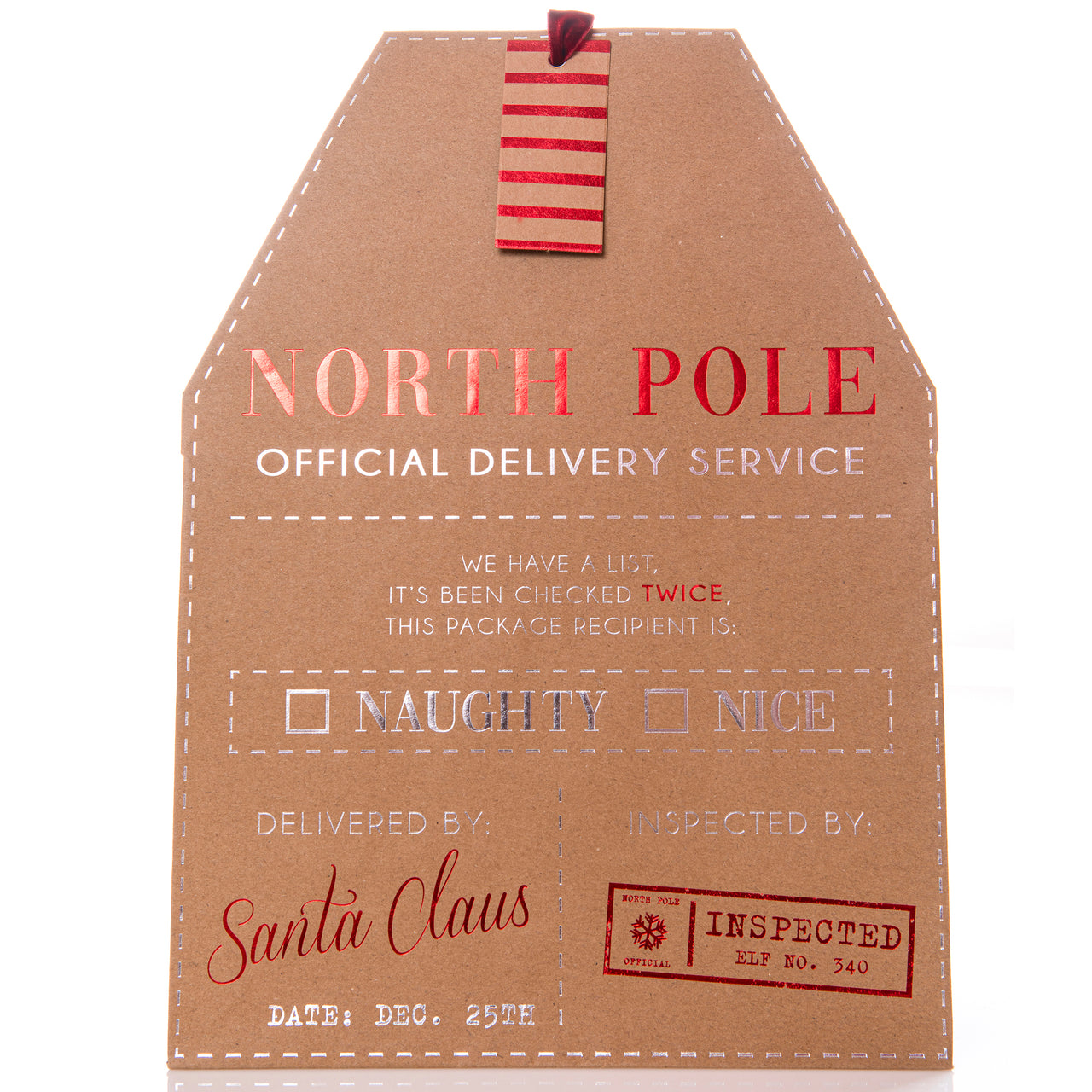 North Pole Holiday Large Gift Bag