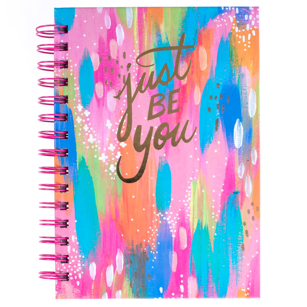 Etta Vee Brush Strokes 6x8 Spiral Hard Cover Journal