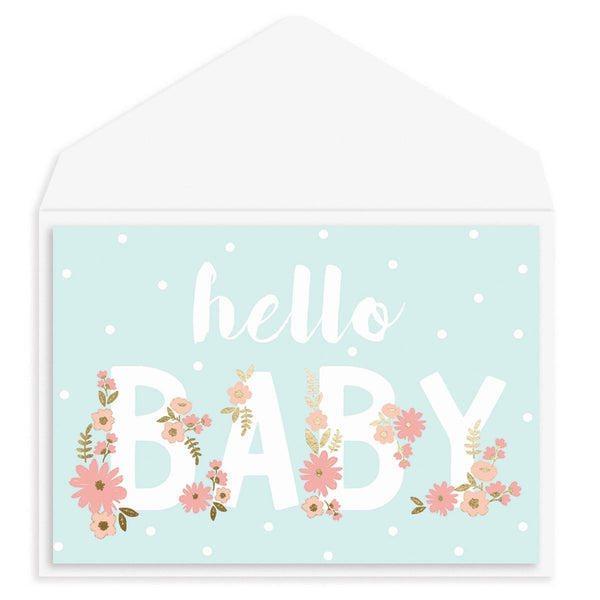 Baby Letters Baby Card