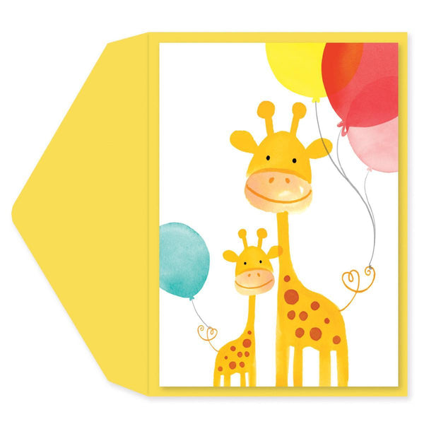 Giraffes Gymboree Baby Shower Card