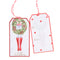 Girl holding wreath Holiday Single Gift Tags