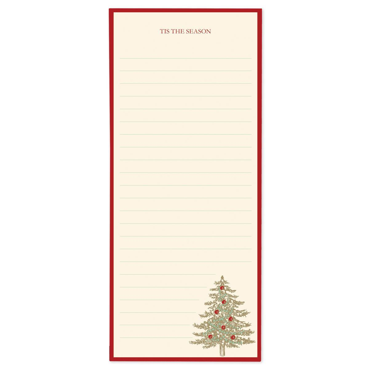 Tree Holiday Magnetic Notepad