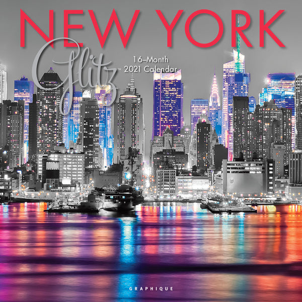 New York Glitz Wall Calendar