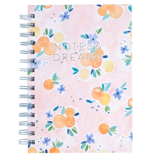 Orange Blossom 6x8 Spiral Hard Cover Journal