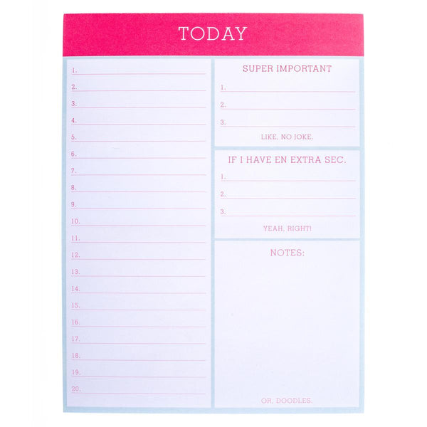 Today Large Notepad