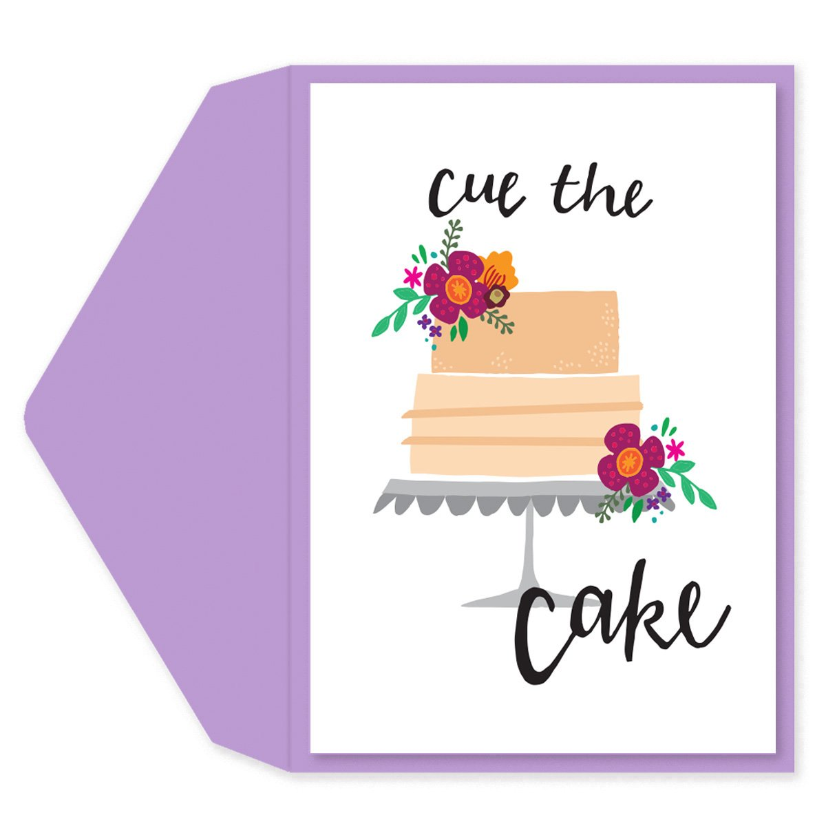 Cue the Cake Birthday Card