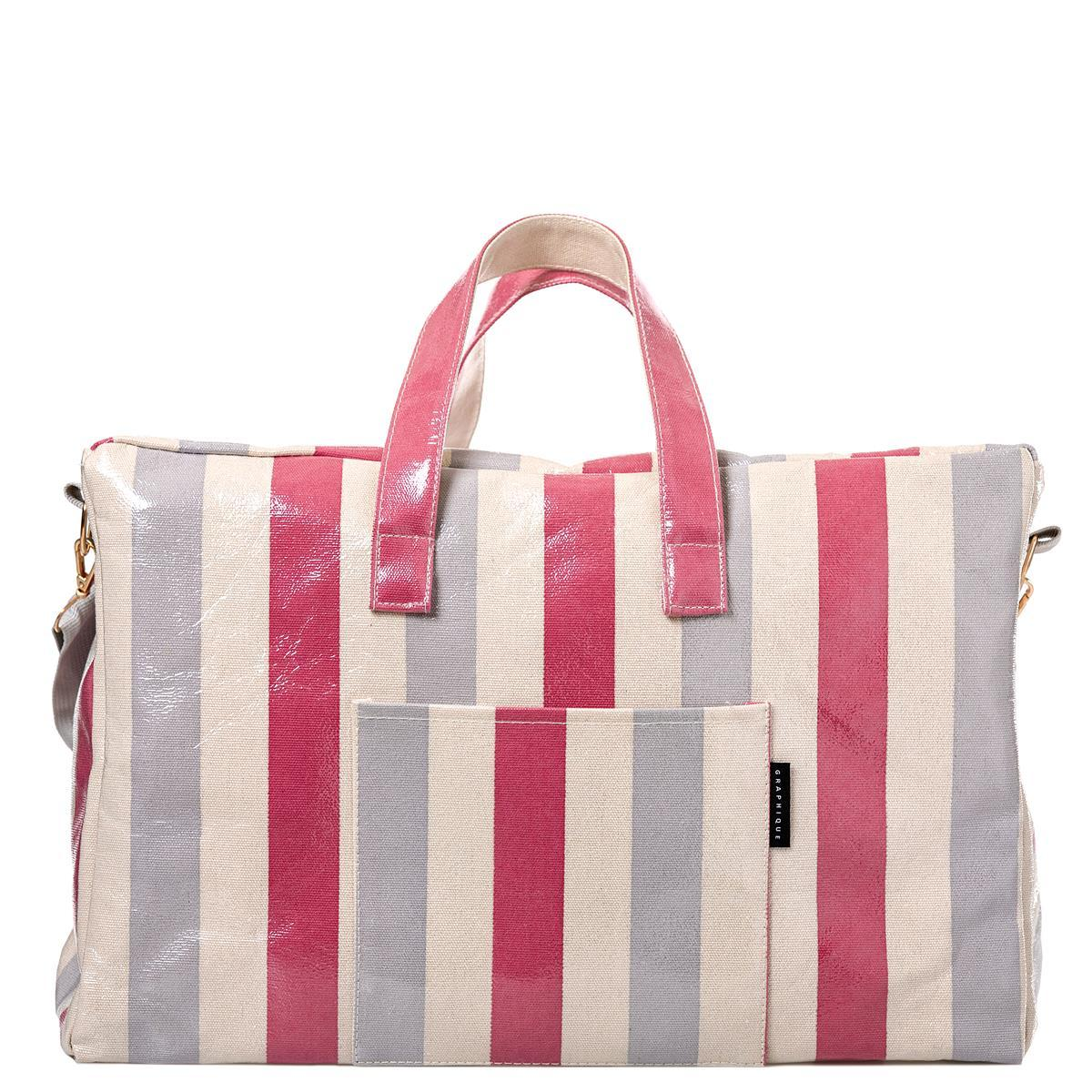 Stripes Laminated Weekender