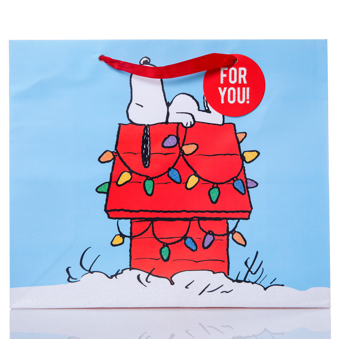 Snoopy House Holiday Large Gift Bag