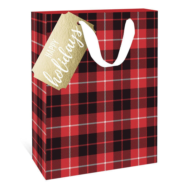 Classic Plaid Holiday Large Gift Bag