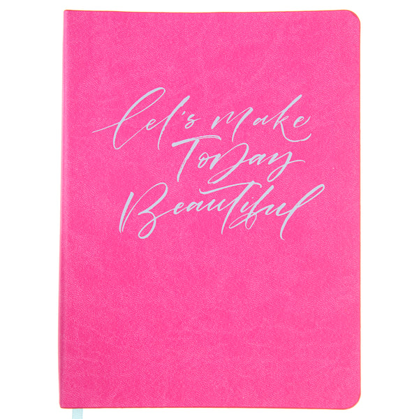 Bright Pink 6x8 Vegan Leather Journal