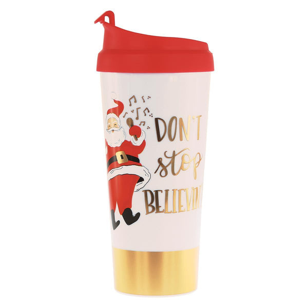 Don't Stop Believin' Holiday Thermal Mug