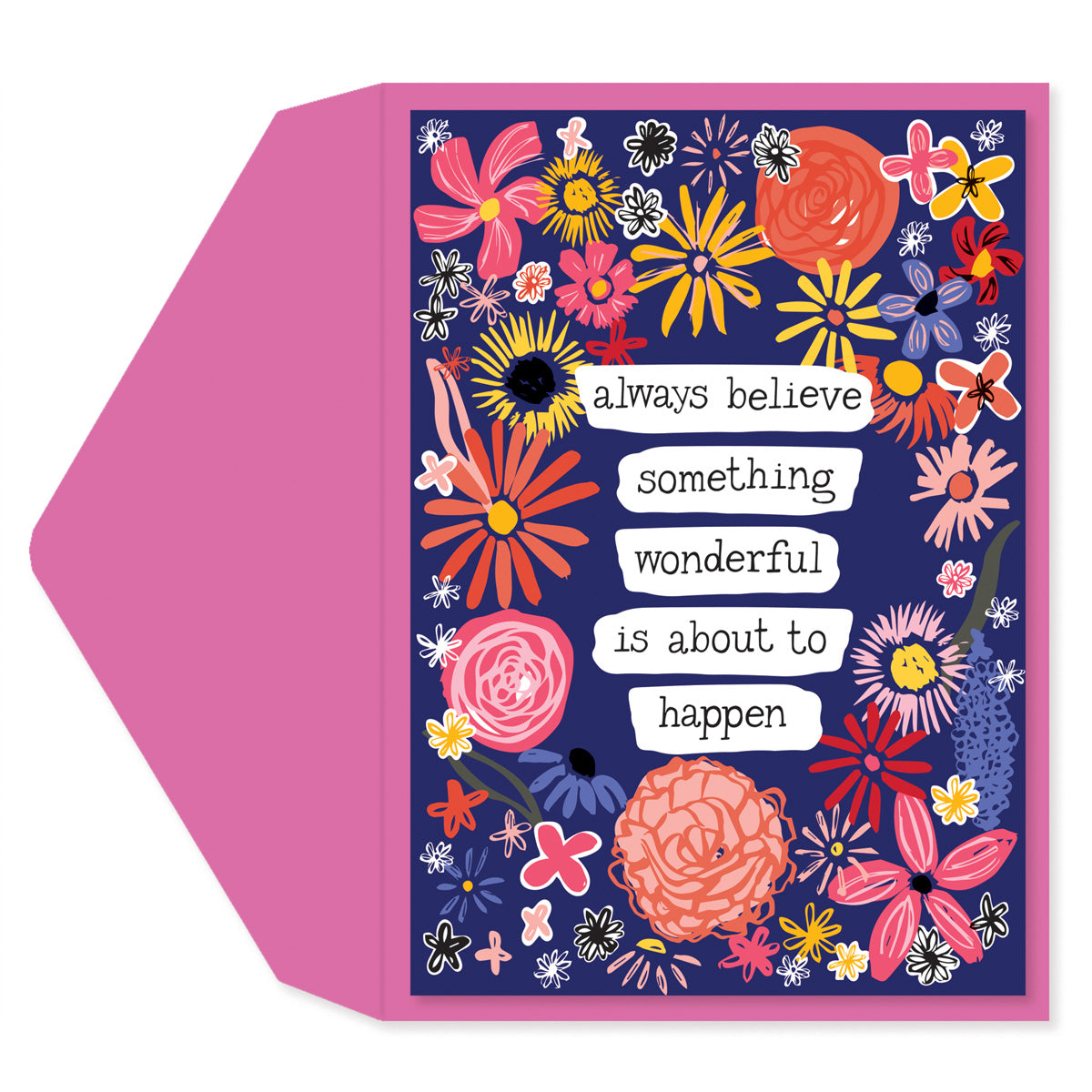 Floral Quote Blank Card