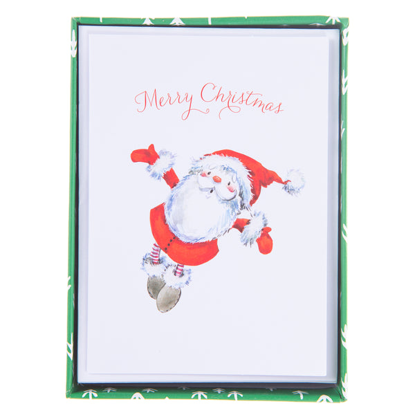 Watercolor Santa Holiday Petite Boxed Cards