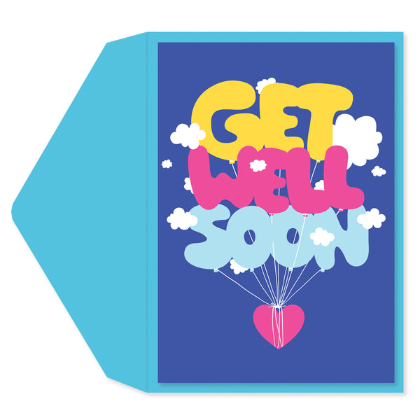 Cloud Letters Get Well Card